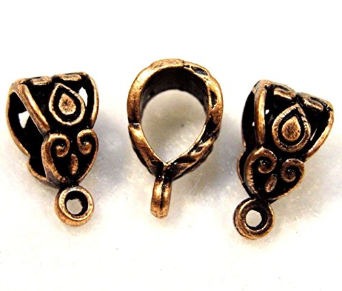 50Pcs. Wholesale Tibetan Antique Copper BAILS Pendant or Charm Connectors Q0404 Crafting Key Chain Bracelet Necklace Jewelry Accessories Pendants from Moon