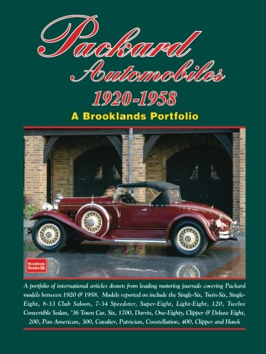 Packard Automobiles 1920-1958: A Brooklands - History 1920 Cars