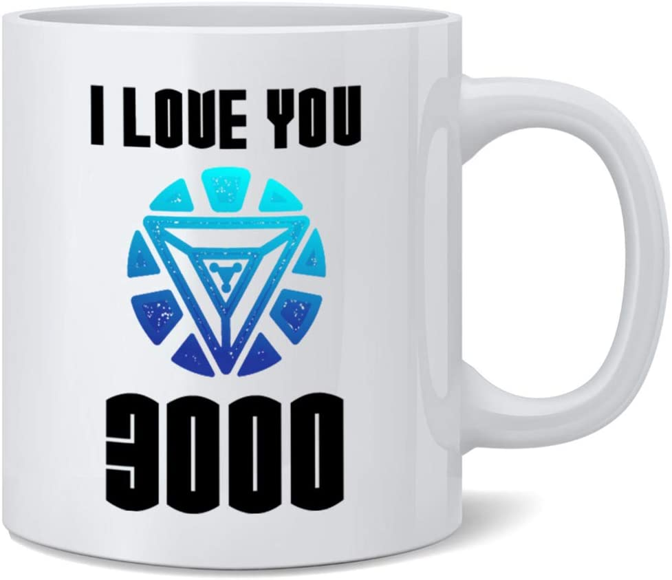 Poster Foundry I Love You 3000 Famous Motivational Inspirational Quote Ceramic Coffee Mug Tea Cup Fun Novelty Gift 12 oz
