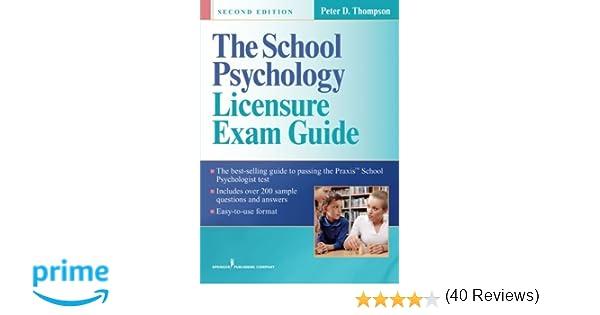 Amazon the school psychology licensure exam guide second amazon the school psychology licensure exam guide second edition 9780826109897 peter thompson phd books fandeluxe Gallery