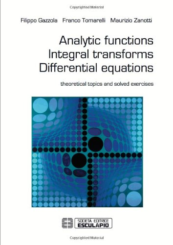 Analytic Functions Integral Transforms Differential Equations pdf