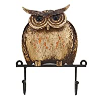 Spachy Rustic Wall Hook Owl Iron Art Coat Hanger Hooks Vintage Hat Robe Hook Rack Wall Mounted Key Holder for Kitchen Wall Housekeeper