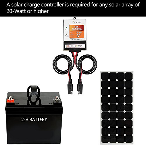 ZEALLIFE Solar Panels Charge Controller, 8A Battery Regulator for 12V Solar Battery Charger, Solar Battery Maintainer and 12 Volt Batteries Power Kit Safe Protection