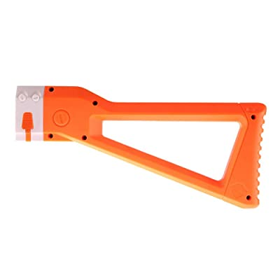 WORKER AK Style Shoulder Stock for nerf N-Strike Elite and Nerf Modulus Series Toy Color Orange: Toys & Games