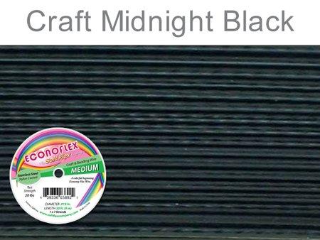 Soft Flex Econoflex Wire 7-Strand Medium (.019) 30ft/Pkg-Midnight Black -