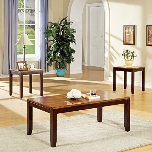 Cheap Steve Silver Abaco Occasional Table 3 Pc Set in Acacia Finish