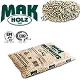 Sacco pellet MAK Holz austriaco chiaro abete bianco certificato EN / DIN PLUS