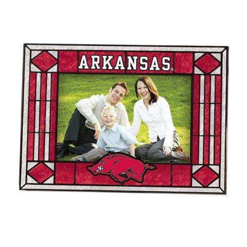 Arkansas Razorbacks Art Glass (Arkansas Art Glass Horizontal Frame)