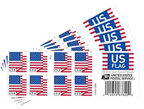 USPS US Flag 2018 Forever Stamps ((Book of 100)) (Postal United Stamps)