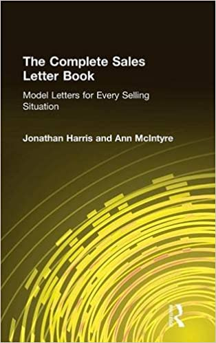 The Complete Sales Letter Book Model Letters For Every Selling