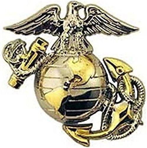US Marine Corps B2 Right Collar Gold Silver Emblem USMC Lapel/Hat ()