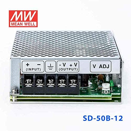 Meanwell SD-50B-12 DC-DC Converter 19~36V in 12V out 50W