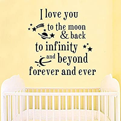Baby I Iove you forever Removable Quote Wall Decal Words Sticker Kids Room Decor N@N