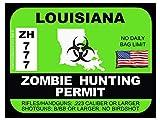Louisiana Zombie Hunting Permit(Bumper Sticker)