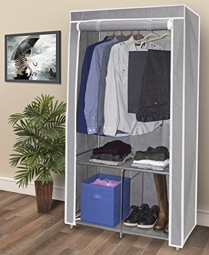 wardrobe closet portable non woven fabric free standing storage organizer new 691165809241 ebay. Black Bedroom Furniture Sets. Home Design Ideas