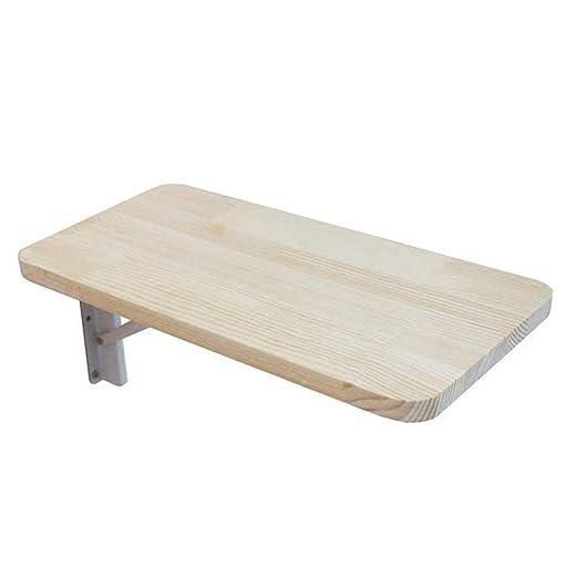 MOM Mesa de madera baja montada en la pared, mesa plegable, mesa ...
