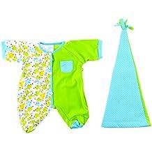 Rubens Barn Baby Doll Pajama Set, in Green