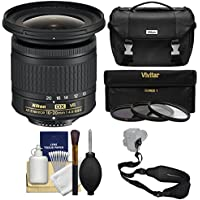 Nikon 10-20mm f/4.5-5.6G DX AF-P VR Zoom-Nikkor Lens with Case + 3 UV/CPL/ND8 Filters + Sling Strap + Kit
