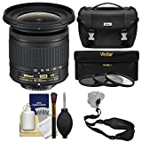 Nikon 10-20mm f/4.5-5.6G DX AF-P VR Zoom-Nikkor Lens with Case + 3 UV/CPL/ND8 Filters + Sling Strap + Kit