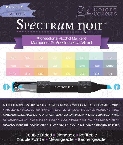 Price comparison product image Crafter's Companion Spectrum Noir Alcohol Markers, Pastels, 24 Per Package