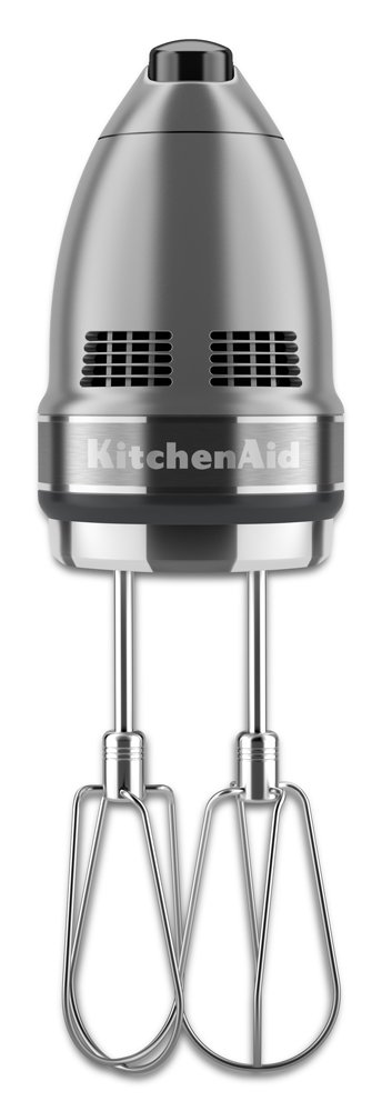 KitchenAid KHM7210CU 7-Speed Digital Hand Mixer with Turbo Beater II Accessories and Pro Whisk - Contour Silver by KitchenAid (Image #2)