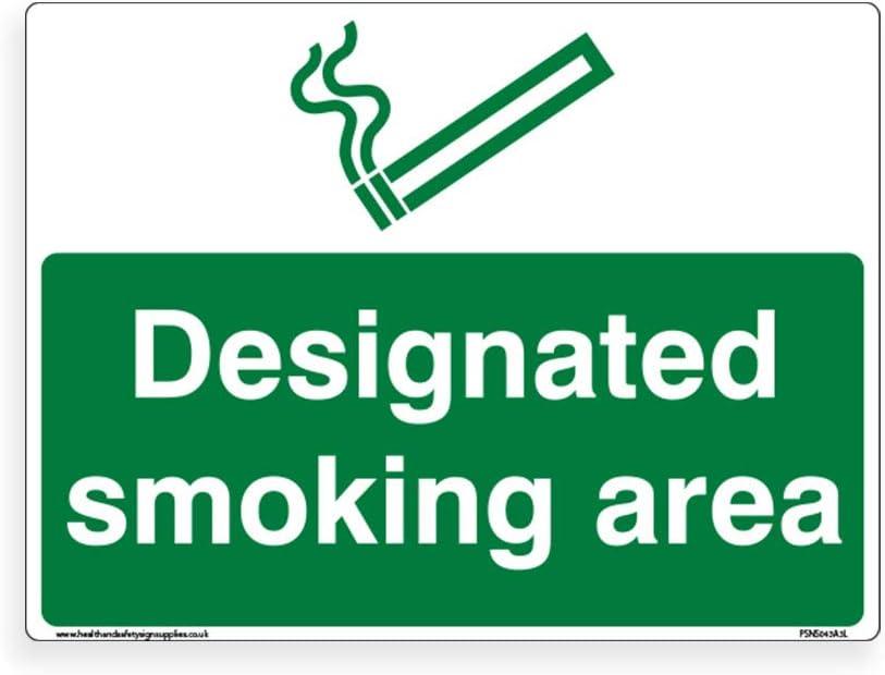 standard Cartello per area fumatori 1,5 mm in plastica rigida, 150 mm x 200 mm /– A5
