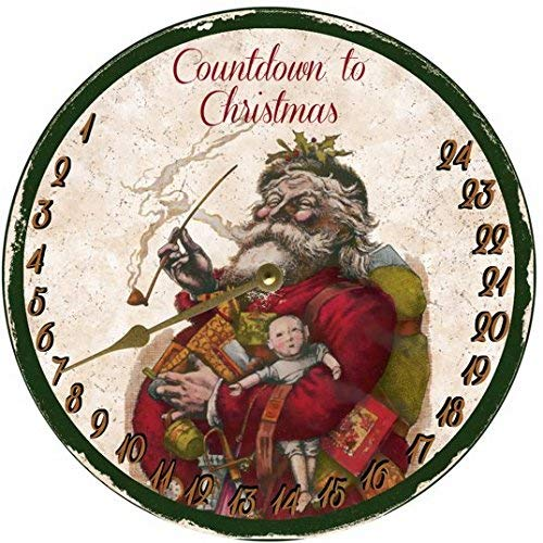 Countdown To Christmas Clock.Amazon Com Countdown To Christmas Clock Faux Clock Handmade