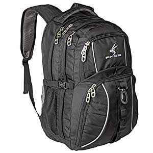 Backpack, (laptop, travel, school or business) Urban Commuter by EXOS (Black)