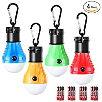 DealBang Compact LED Camping Light Bulbs with Clip Hook (Battery Included), 150 Lumens LED Hanging Tent Light for Camping, Hiking, Backpacking, Fishing, Hurricane, Emergency from DealBang