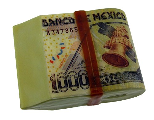 Mexican Currency Pesos Belt Buckle Moneda mexicana Fake Stack of Pesos 1000 (Pesos Bill)