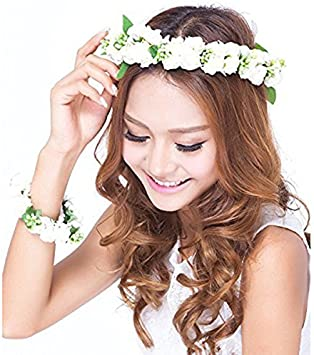 Pretty Rosebud Flower Headband Satin Ribbon Hair Band Bridesmaid 3 colours