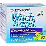 Witch Hazel Hemorh Pads Size 100s Dickinson'S Hemorrhoid Pads