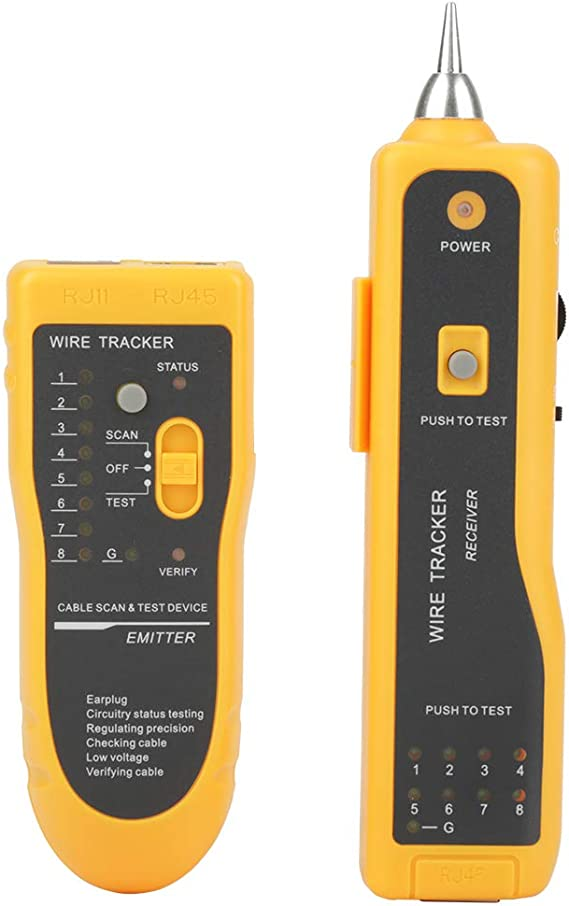 JW360 Auto Scan Wire Tracker Tester LAN Network Cable Tester Detector Finder GA
