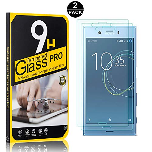 Price comparison product image Sony Xperia XZ1 Compact Tempered Glass Screen Protector,  UNEXTATI 9H Hardness Screen Protector Film,  HD Clear Tempered Glass Film for Sony Xperia XZ1 Compact (2 Pack)