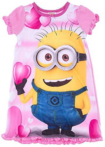 Despicable Me Big Girls' Minion Pink Nightgown 10 (Pink Minion)