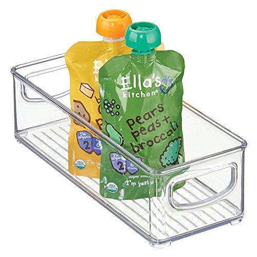 mDesign Baby Food Storage Organizer Bin for Pouches, Form...