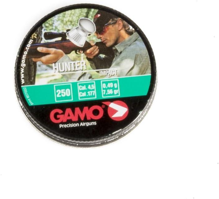 Gamo Hunter .177 Cal, 7.56 Grains, Domed, 250ct