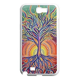 Diy Love Tree of Life Phone Case for samsung galaxy note 2 White Shell Phone JFLIFE(TM) [Pattern-4]