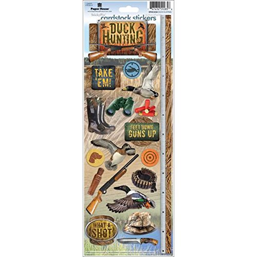 - Paper House Productions STCX-0194E Cardstock Stickers, Duck Hunting (6-Pack)
