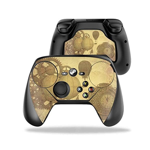 MightySkins Skin Compatible with Valve Steam Controller case wrap Cover Sticker Skins Steam Punk Paper 3
