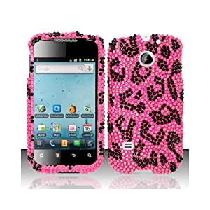 Pink Leopard Bling Gem Jeweled Crystal Cover Case for Huawei Ascend II 2 M865