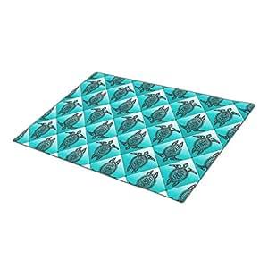 IanRosa Shamanic Sea Turtles Pattern - cyan Custom Doormat Turtles Holiday Doormats