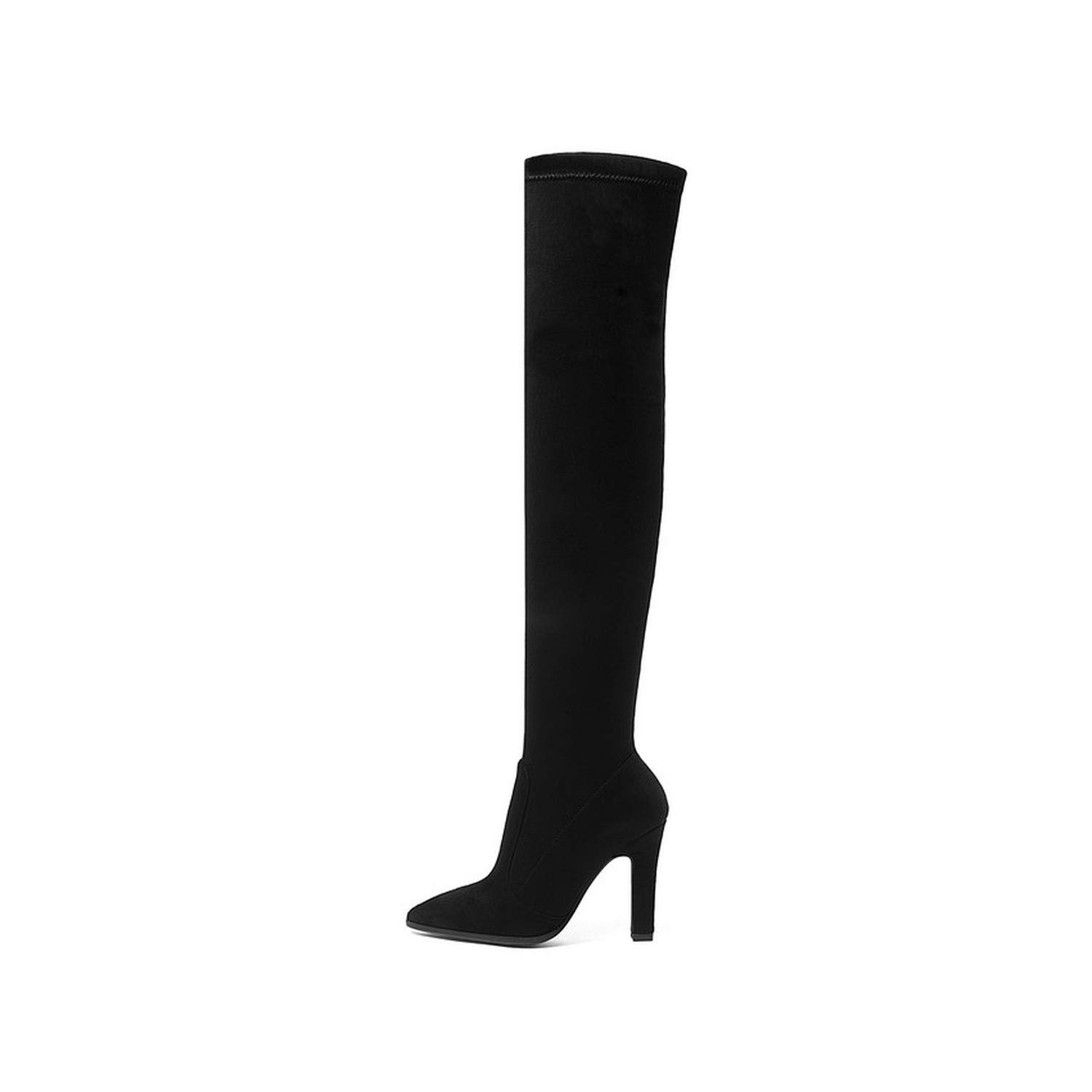 2019 Women Over The Knee High Boots Slip on Winter Shoes Thin High Heel Pointed Toe Women Boots