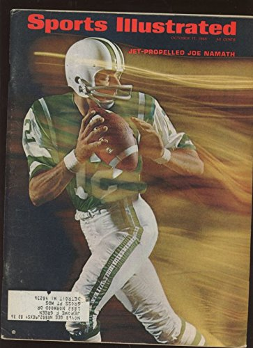 1966 Sports Illustrated Complete Magazine With Joe Namath Front Cover Ex+