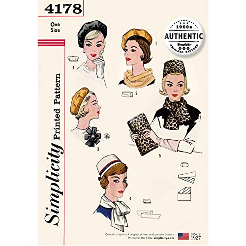 Simplicity 4178 Misses' Vintage 60s Accessories OS (One Size) Multi
