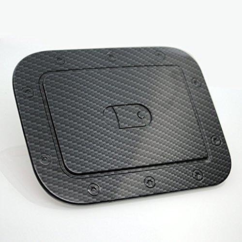 22013 Cap (E-Autogrilles Black Carbon Fiber Look Fuel Gas Tank Cap Door Cover for 12-14 Toyota Camry (66-2806CF))
