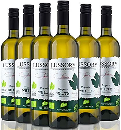 Lussory Chardonnay Orgánico | Vino blanco Sin alcohol caja de 6 ud