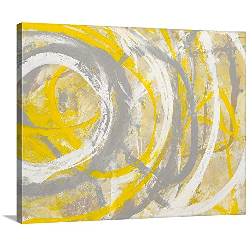 "greatBIGcanvas Erin Ashley Premium Yellow Aura Canvas Wall Art, 20"" x 16"", None"