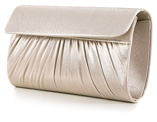 28x11x5 Helltaupe Clutch W Design Evening Bag Vincent D 5 Perez x Bag Bag Shoulder Satin cm H x tT7zqw