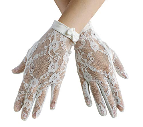 Dress Gloves Womens (Urban CoCo Vintage Spring and Summer Women's Lace Cotton Short Gloves (Model)